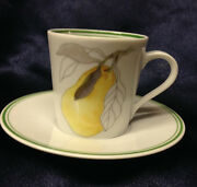 Block Spal Portugal Mary Lou Goertzen Pear Demitasse Cup And Saucer Watercolors