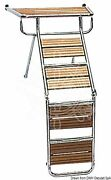 Osculati Platform Gangway Ladder With Iroko Grid And Mounting Accessories 115cm