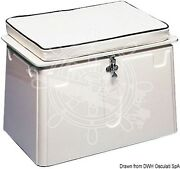 Osculati White Vtr Lockable Opening Locker With Seat 59x43x37h