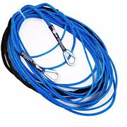 100' X 3/16 Amsteel-blue Utv Atv Sxs Extension Synthetic Winch Rope Line Cable