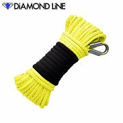 Synthetic Yellow 3/16 Winch Rope 50and039 Atv Cable Ramsey Warn Kfi Compatable
