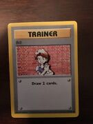 First Edition 1995 Shadowless Trainer Bill Mint Condition 91/102
