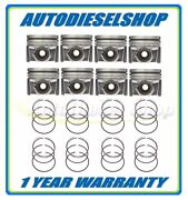 08-10 6.4 6.4l Ford Powerstroke Mahle Standard Piston Set With Rings 2243666wr