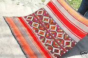 Genuine Vintage Multi Colored Wool Tribal Camel Embroidered Panel Rug 4x4ft