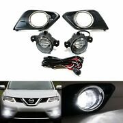 15w Cree Led Projector Fog Lights W/bezel Covers Wiring For 14-up Nissan Rogue
