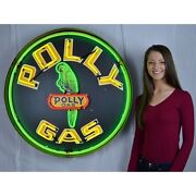 36 Neonetics Large Led Neon Polly Gas Parrot Sign Light 9gsply Auto Garage Shop