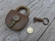 Antique Padlock With One Key Working Order Beautiful Padlock Unique Collector