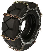 2.50x15 Forklift Tire Chains 8mm Square Link Hyster Lift Truck Snow Traction