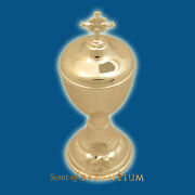 Orthodox Style Wedding Cup Silver Or Gold Plated Metal Lid With Cross