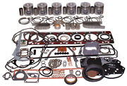 Made To Fit Cummins 6ct 8.3 Engine O/h Kit Cok2406 Thick Wall Long Qty1 12 Valv