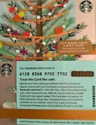 2016 Starbucks Christmas Tree With Gold Tinsel Gift Card 6128 No Value Mint