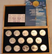 Israel Idf/iaf Airplanes That Made History 14 Silver Medals 29g Each, Rare
