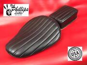 Black Bates Style Motorcycle Seat Leather Tuck And Roll Solo Rich Phillips Leather
