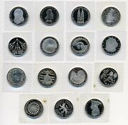 Germany Full Set Of 15 Copper - Nickel 5 Mark Sealed Proof Coins 1979-1986