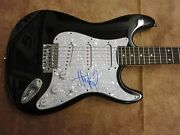 Huey Lewis American Singer, Songwriter Signed Electric Guitar Lom Coa G108