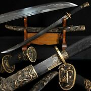 Boutique Chinese Sword Broadsword Clay Tempered Pattern Steel Genuine Ray Skin7