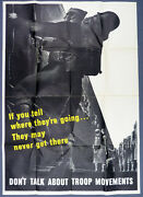 Original Wwii Us Propaganda Poster If You Tell Where Theyand039re Going...