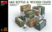 Miniart 1/35 35573 Milk Bottles And Wooden Crates Buildings And Accessories