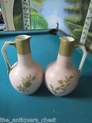 Thomas Forester And Sons, Staffordshire C1920s Two Vases/jars Golden Handles[]
