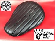 Tuck And Roll Black Bates Style Motorcycle Seat Leather Solo Rich Phillips Leather