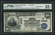 Fr616 10 1902 S/n 3 Unique Type For This Bank Pmg 35 Epq Choice Vf Wlm2436