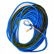 3/8 X 80and039 Amsteel Blue Main Line Synthetic Winch Rope Cable Utv Atv Suv
