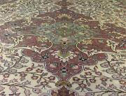 Beautiful Cr1900-1939s Antique Wool Pile Muted Colors Bunyan Area Rug 7x10ft