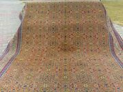 Muted Dyes Ca1900-1939s Antique 6and0399andtimes9and0396 Wool Pile Turkish Hereke Rug