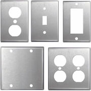 Stainless Steel Wall Plates Light Switch Covers - Blanks Toggle Rocker Duplex