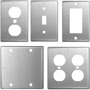 Stainless Steel Wall Plates Light Switch Covers - Blanks, Toggle, Rocker, Duplex
