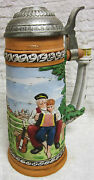 1981 Norman Rockwell Looking Out To Sea Porcelain Collector's Stein