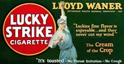 1928 Lucky Strike Store Counter Standup Sign Lloyd Waner Pirates Repro