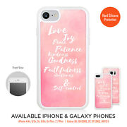 Love Joy Peace Patience Case Silicone Frame Bumper For Iphone Galaxy Lg Google