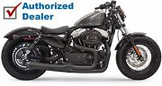 Black Bassani Mega Power 2 Into 1 Road Rage Ii Exhaust Pipe System Sportster Xl