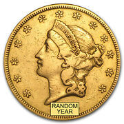 1850-1866 20 Liberty Gold Double Eagle Type 1 Cleaned - Sku 59288