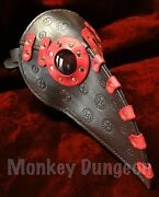 Custom Made Leather Steampunk Plague Doctor's Mask- Gears Doctor Halloween