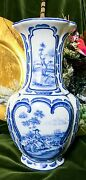 """""""Bloementopf""""  Hand Painted  Vase in Delft Blue and White"""