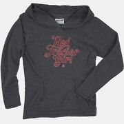 Red Tractor Girl Ladies French Terry Hooded Pullover