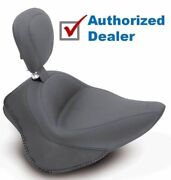 Mustang Wide Touring Vintage Solo Seat Driver Backrest Harley Softail 200 Tire