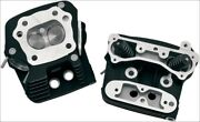 Sands Cycle Black Cylinder Heads For Evolution Evo W/ Stock Style Pistons 84-99