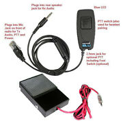 Pryme Bt-m01j-kit2 Bluetooth Adapter Kit With Wired Ptt Footswitch For Kenwood