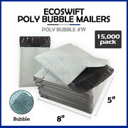 15000 000 4x8 Full Pallet Poly Bubble Envelopes 5 X 8 X-wide Mailers Bags