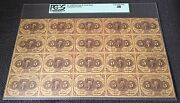 Fr1230 1st Issue 5andcent Uncut Sheet Fractional Currency Pcgs Xf 40 Wlm1339