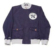 Mitchell And Ness Ny Yankees Locker Room Twill Jacket 6018a-418 Navy Msrp 180