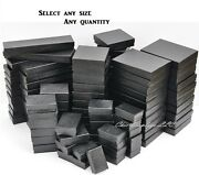 Black Cotton Filled Jewelry Boxes Black Gift Boxes For Jewelry Lot 2050100500
