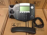 Polycom Soundpoint Ip 650 Ip650 Sip 2201-12630-001 Phone W/ Stand And Handset