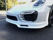 Porsche 991 Turbo S Aggressive Wicked Front Spoiler Valance Fits Years 2014-2016