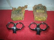1958 Chevy Impala Nos Radiator Ornament Assembly Parking Lamp Bezels In Boxes Pr