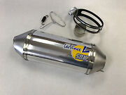 Leo Vince Unlimited Shorty Slip On Exhaust Sbk Replacement Canister Kit Polished