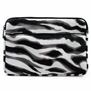 Zebra W/ Front Package Slim Neoprene Briefcase Case For Windows And Android Tablet